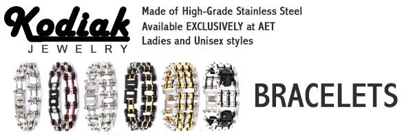 Kodiak Stainless Steel Biker Jewelry